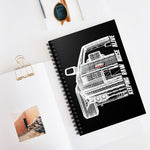 Wireframe Toyota AE86 Spiral Notebook