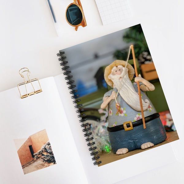 Fishing Santa Spiral Notebook - Ruled Line