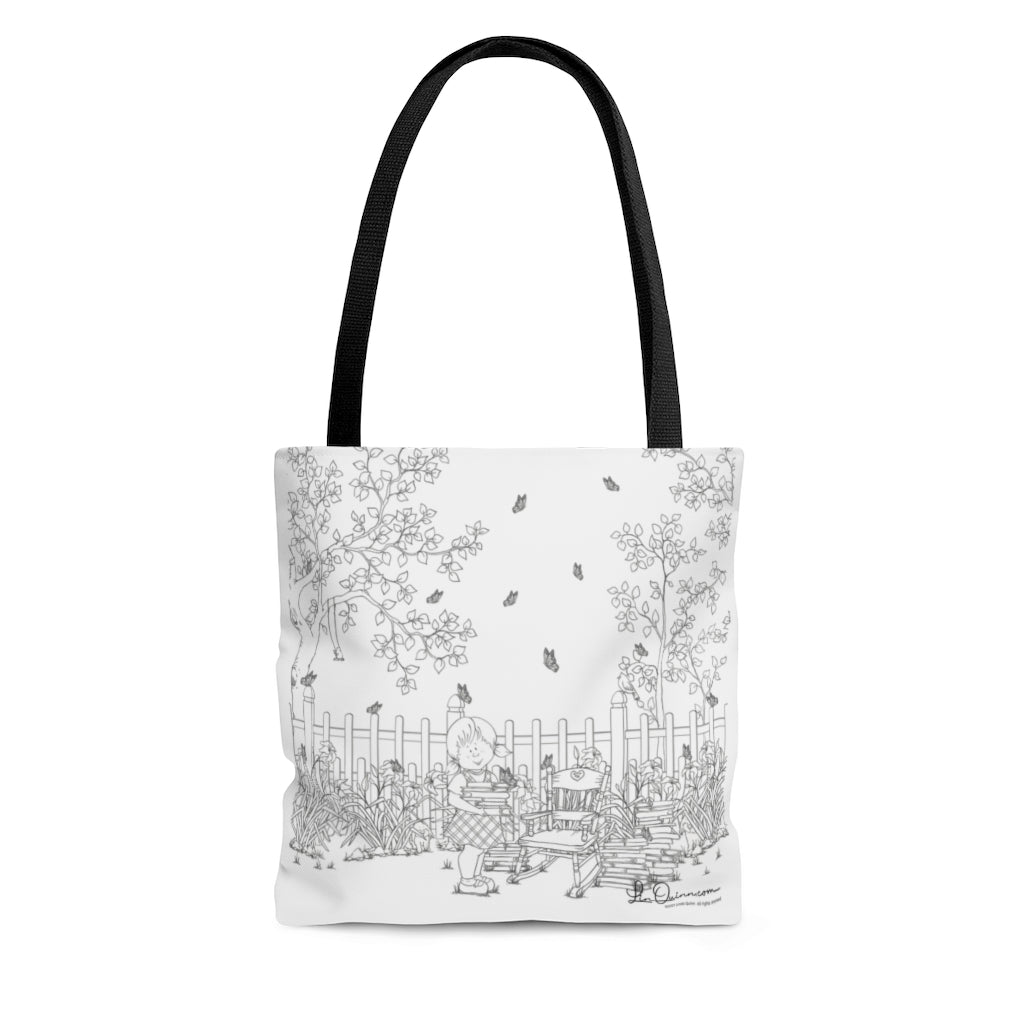 Emma Butterflies Tote Bag