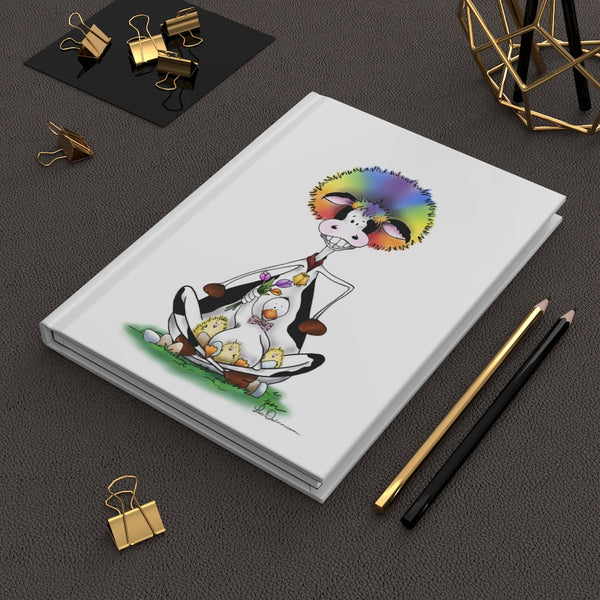 Silly Cow & Duck Hardcover Journal - Ruled