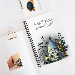 Gnome Fireflies Spiral Notebook - Ruled Line