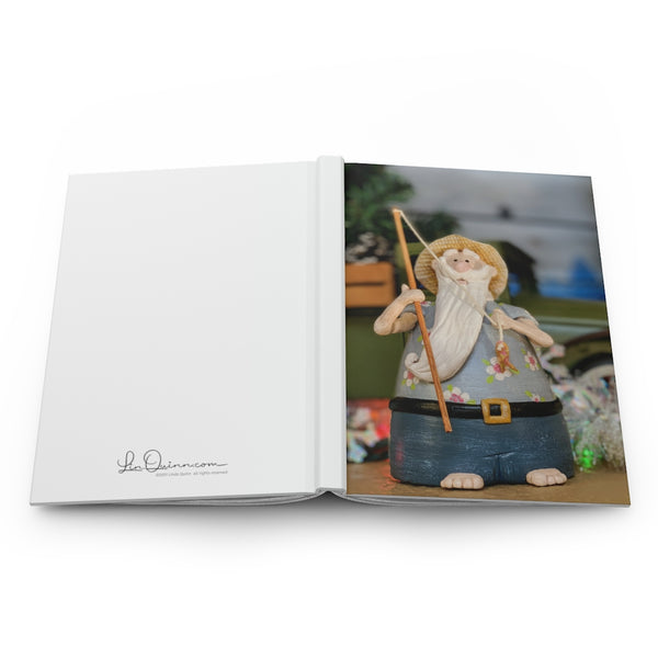 Fishing Santa Hardcover Journal - Ruled