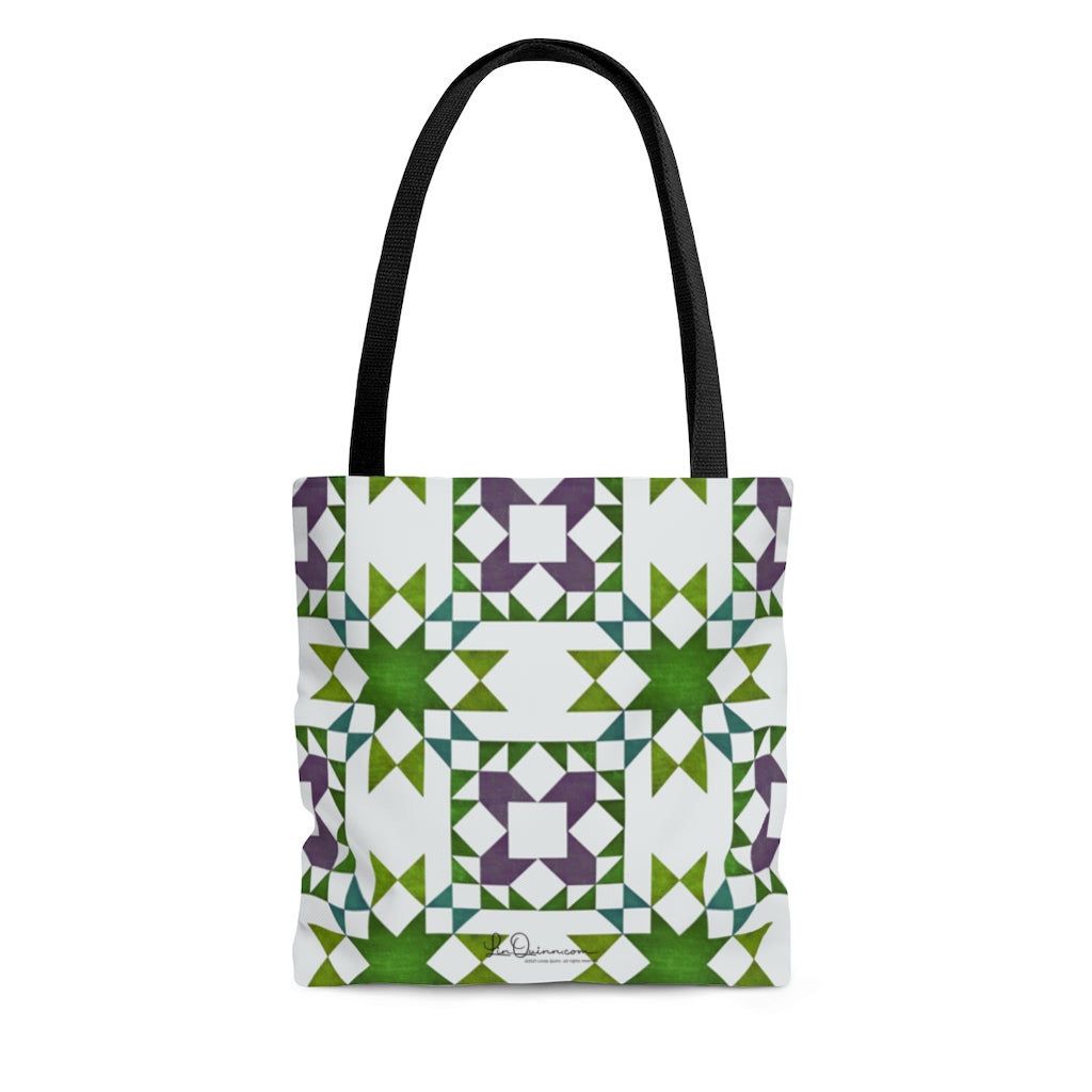 Stars and Tulips Tote Bag