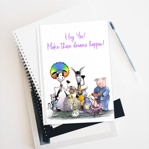 Silly Cow and Gang Waving Journal - Blank