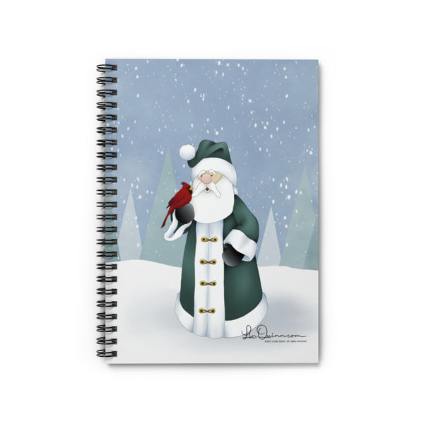 Santa and Cardinal Notebook - Ruled Line