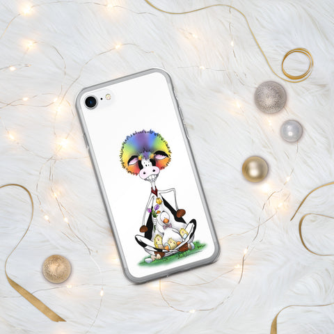 Silly Cow and Duck iPhone Case