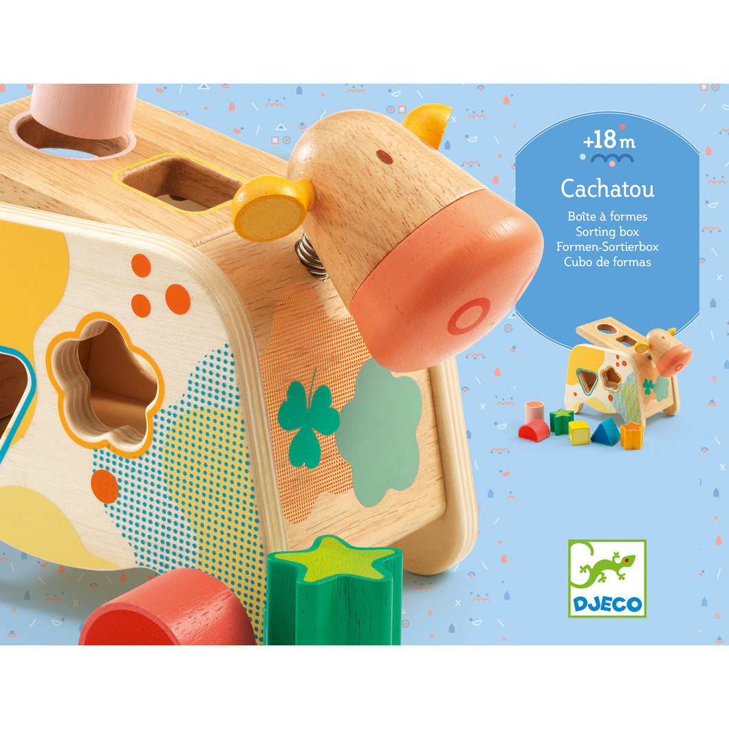 Djeco Cachatou Maggie Wooden Cow Shape Sorter
