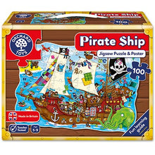 Load image into Gallery viewer, Pirate Ship Jigsaw Puzzle