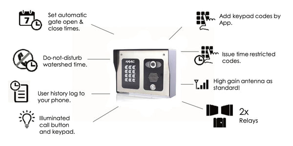 FAAC FCI4000 Cellular Intercom 4G With Live Streaming Video | 4401