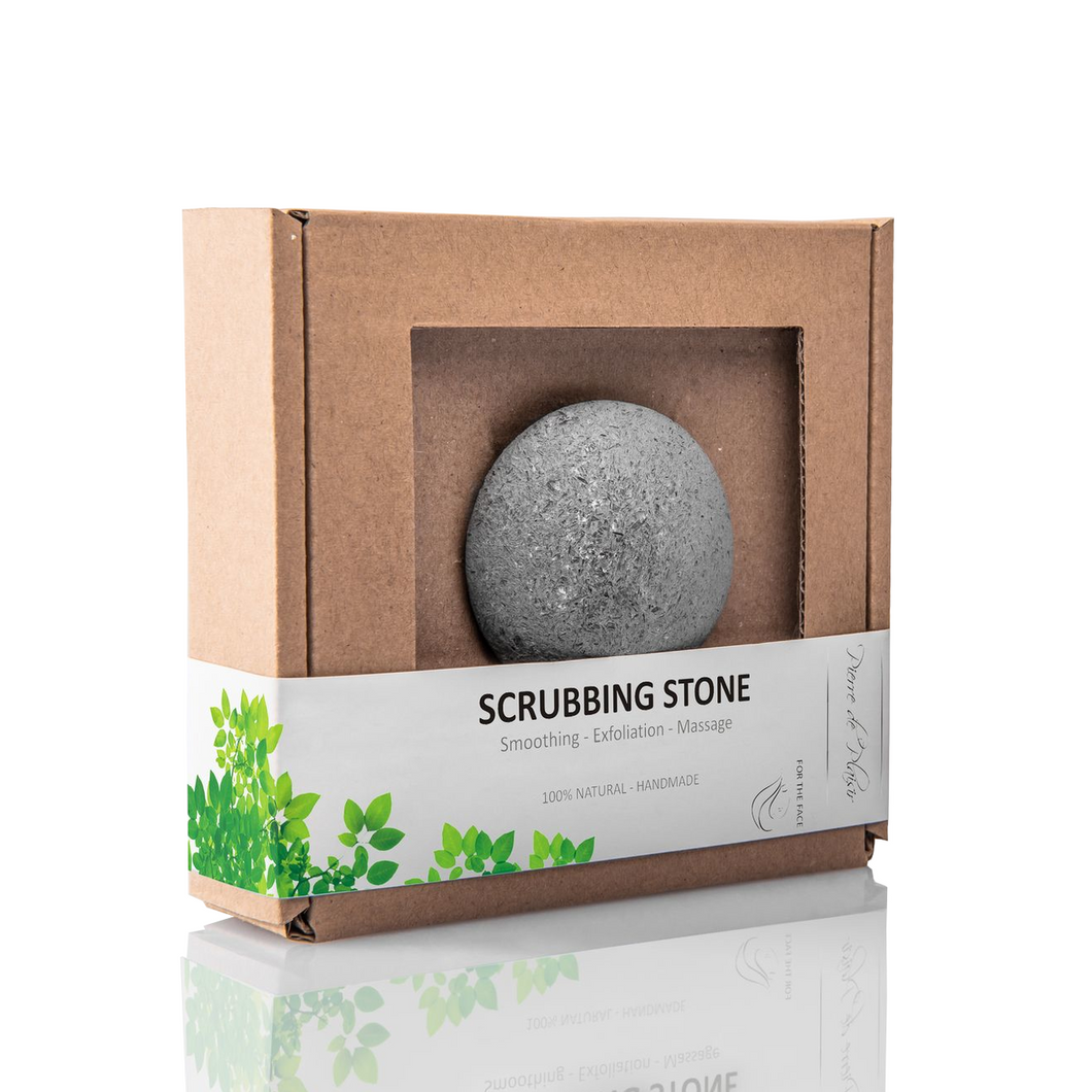 Natural Scrubbing Stone for the Face Grey - 40g