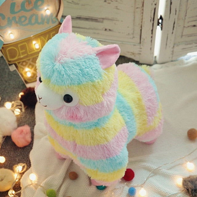 Cute Rainbow Alpaca Plush