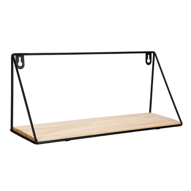 Wooden Iron Floating Shelf