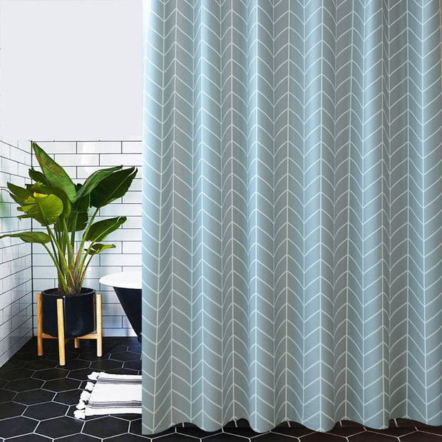 Blue Plaid Shower Curtain