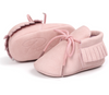 Kiddoston baby leather shoes pink