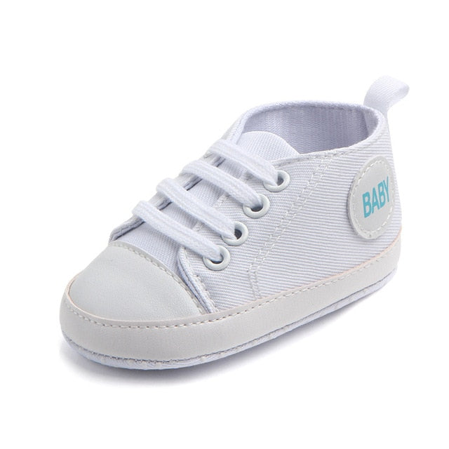 Baby First Walking Sneaker Shoes White