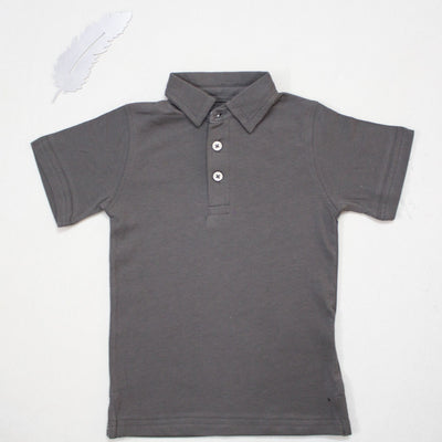A QUALITY GREY POLO SHIRTS FOR KIDS