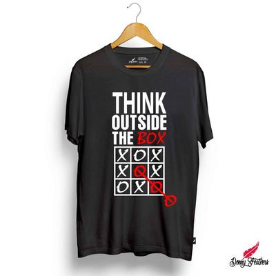 THINK OUTSIDE THE BOX T-SHIRTS FOR MEN