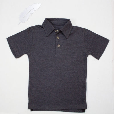 DARK GRAYISH POLO SHIRTS FOR KIDS