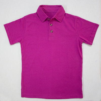 DARK PINK POLO SHIRTS FOR KIDS