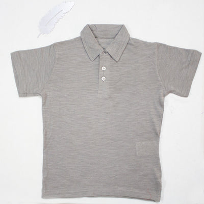LIGHT GREY POLO SHIRTS FOR KIDS