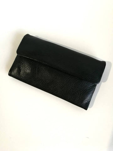 DUSKY ROBINS LEATHER CHLOE WALLET - BLACK
