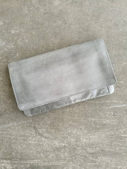 Dusky Robins Leather Sirena Purse Grey