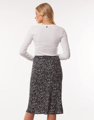 All About Eve Mono Midi Skirt