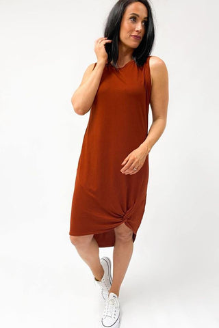 Silent Theory Twisted Tank Dress Rust