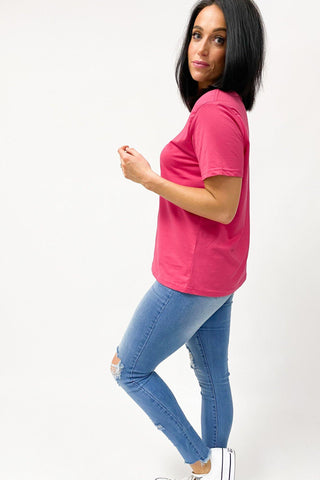 AS Colour Maple Tee Fuchsia (2for40)