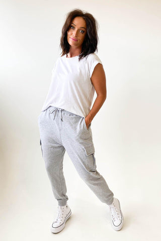 All About Eve Combat Trackpant Grey Marle