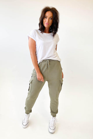 All About Eve Combat Trackpant Khaki