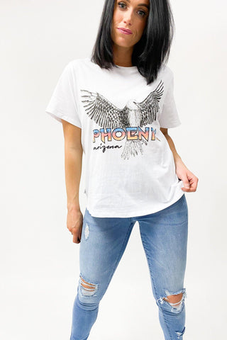 All About Eve Phoenix Tee White