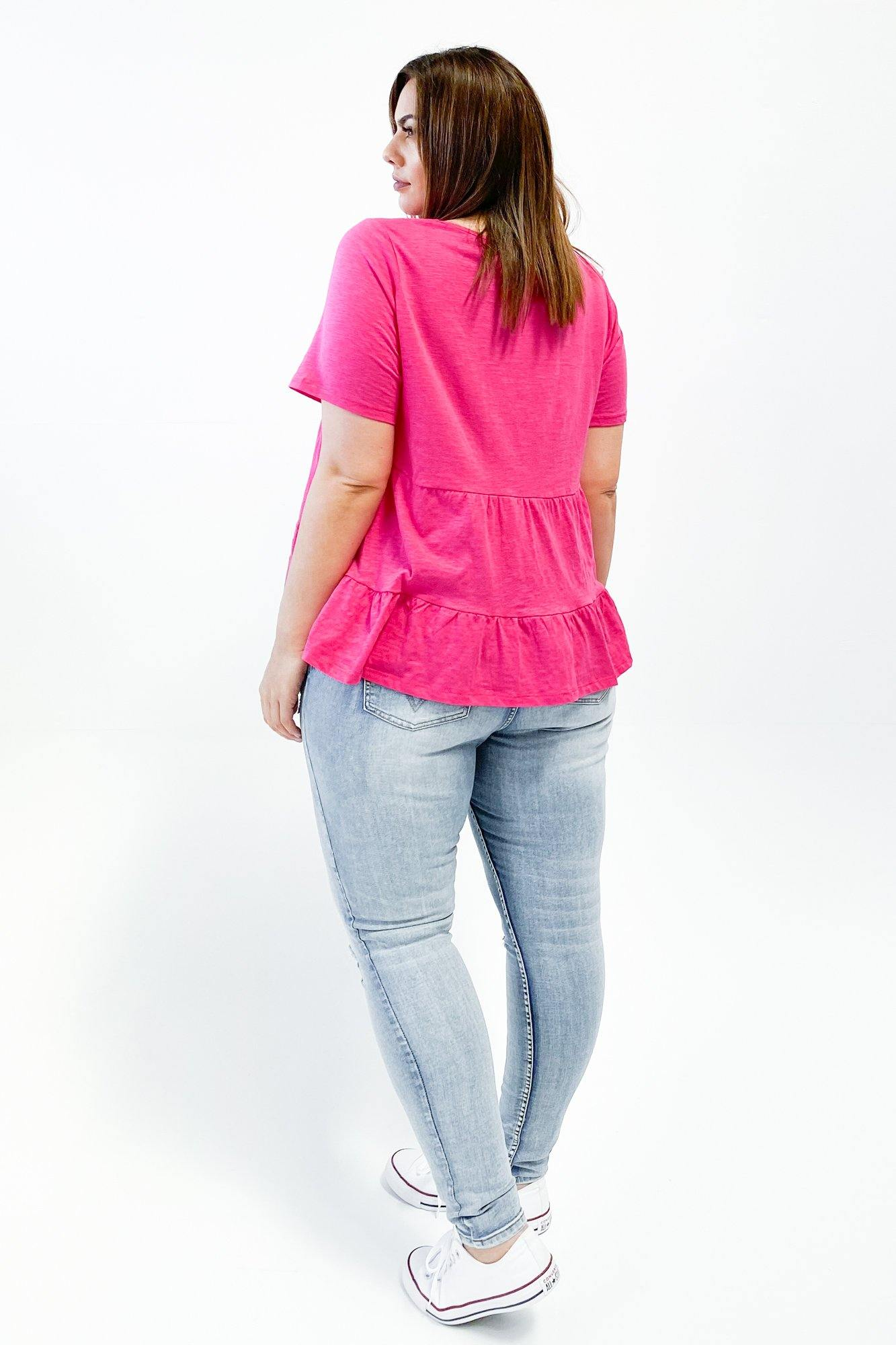 Betty Basics Sofia Top Fuchsia