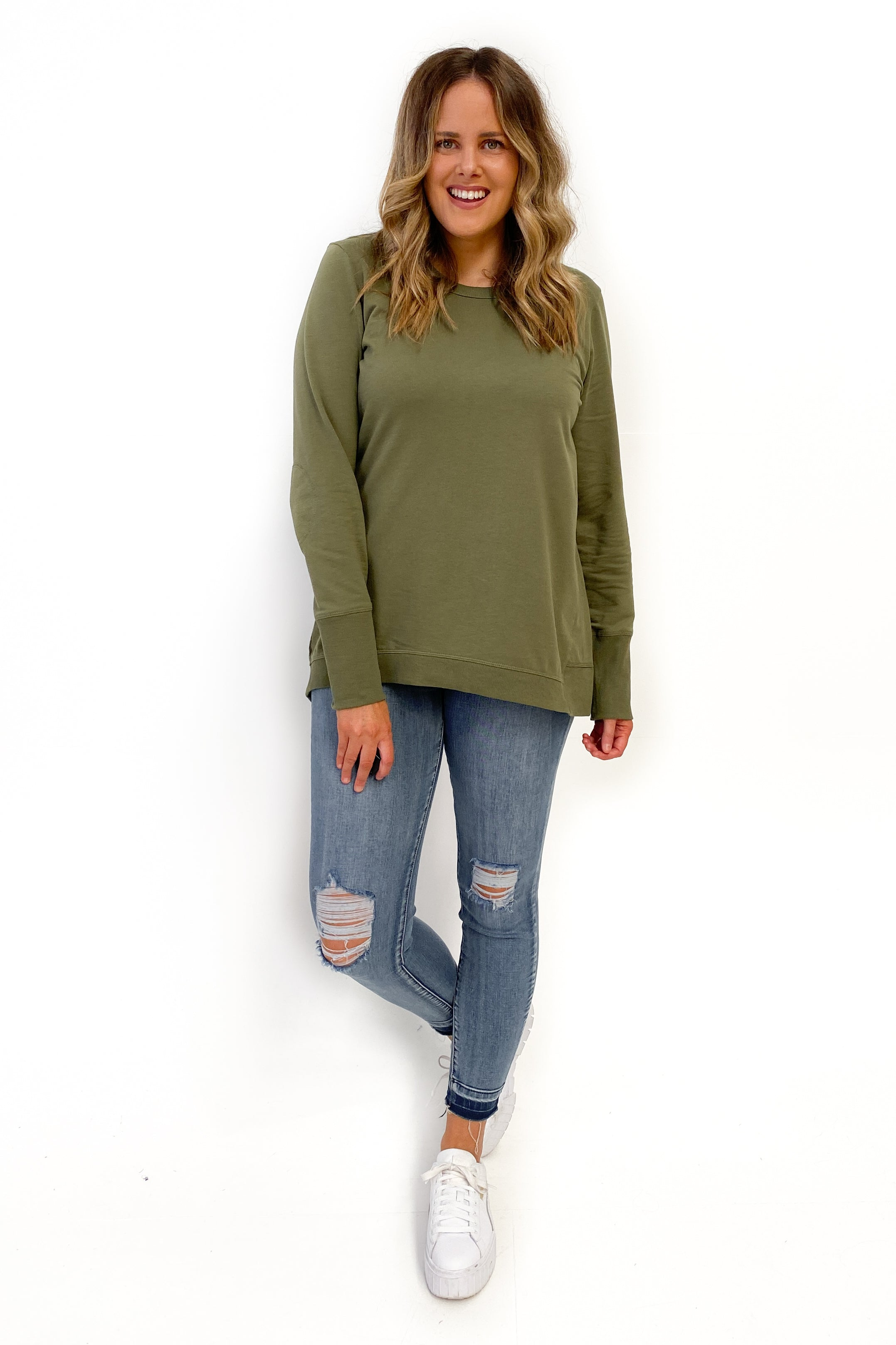 Betty Basics Dolly Sweat Khaki