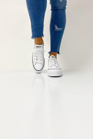 Converse Chuck Taylor All Star Lift Leather Low White - Shine On