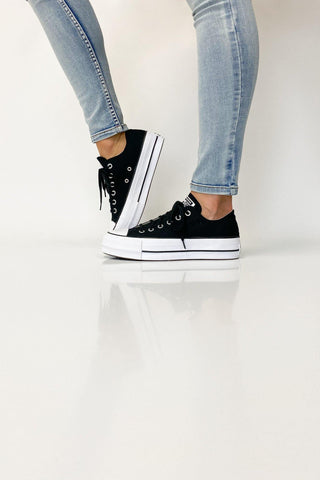 Converse Chuck Taylor All Star Lift Low Black - Shine On