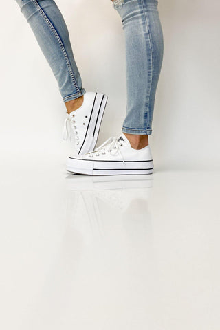 Converse Chuck Taylor All Star Lift Low White - Shine On