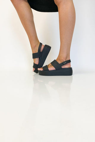 Crocs Brooklyn Strap Low Wedge Black