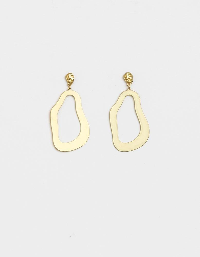 Damsel Earring Puddle Matt Gold