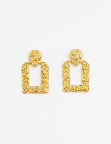 Damsel Earring Recto Royal Gold