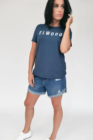 Elwood Tee Dusty Navy