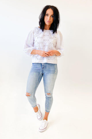 Fate The Heiress Top White