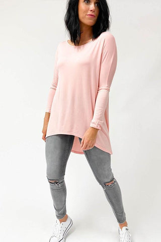 Freez Long Sleeve Slouch Tee Blush (Freez2)