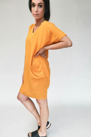 Freez Pocket Dress Mustard (2 for $89 Offer)