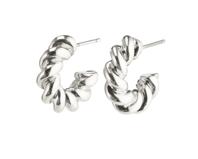 Pilgrim Gabrina Earrings Silver Plated