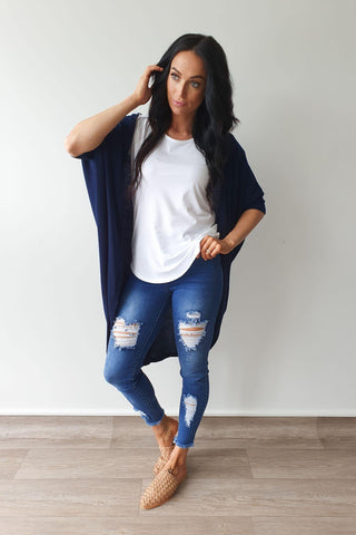 Freez Festival Shrug Navy Preorder Early March (2 for $89 Offer)