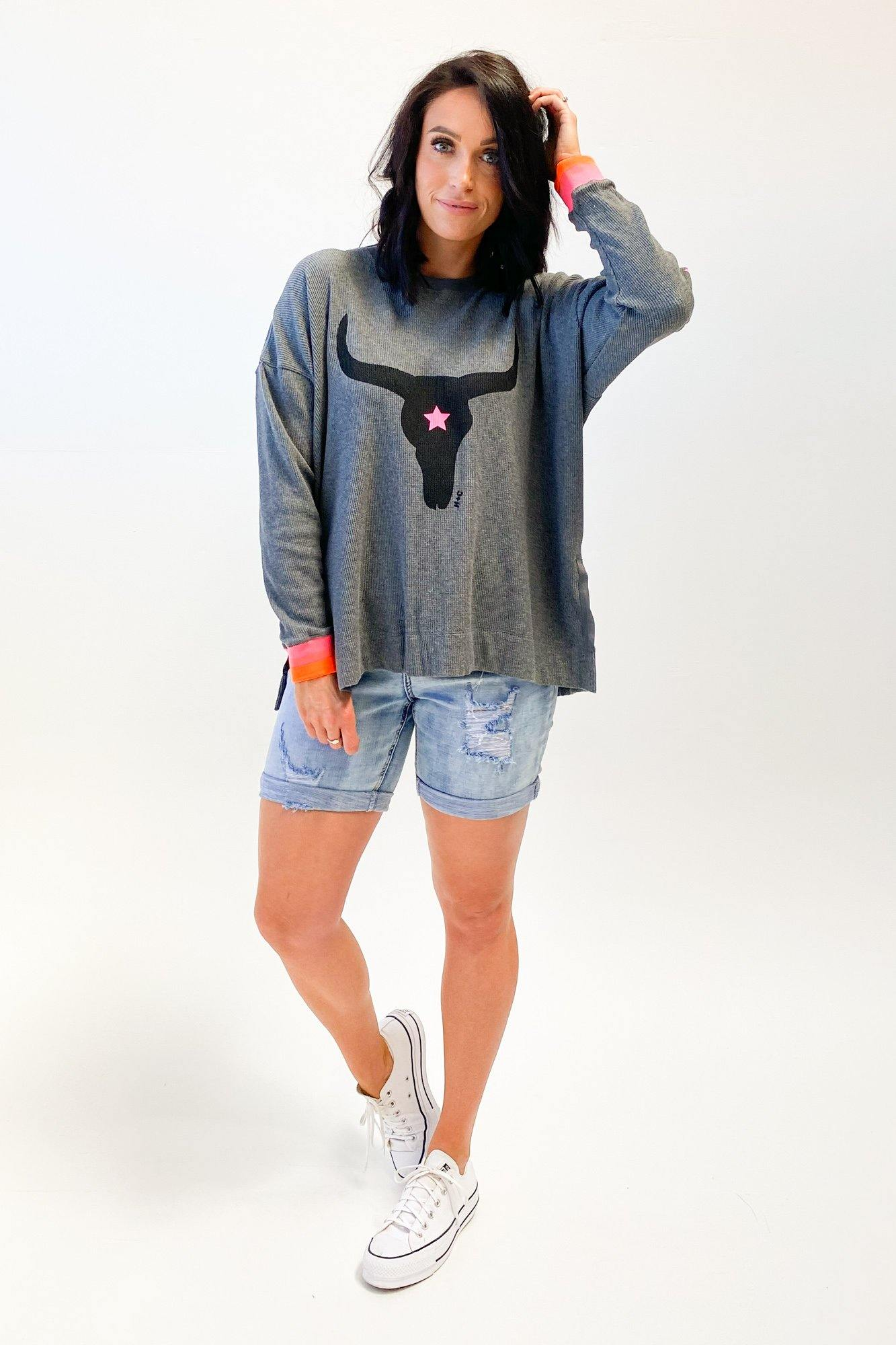 Hammill + Co Spring Waffle Top Charcoal
