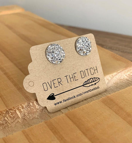 Over The Ditch Flat Silver Sparkle