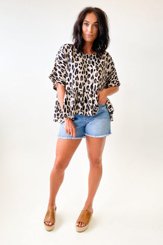 Label of Love Mimi Leopard Top