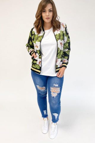 Mi Moso Avery Bomber Floral